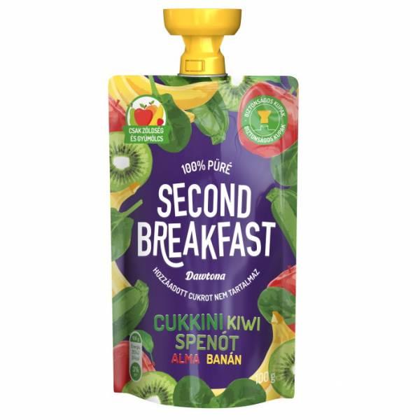 Second Breakfast - Cukkini, kiwi, spenót, alma, banán