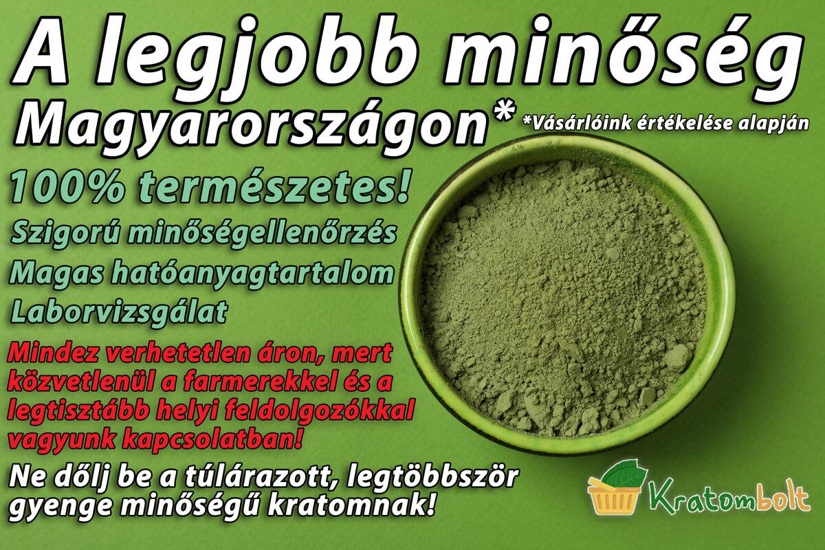 Legjobb Kratom Minőség Magyarországon